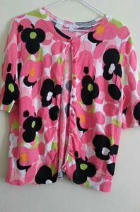 New York and Company Floral Button Down Cardigan